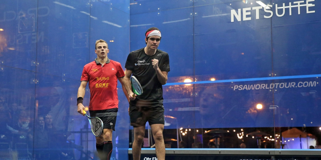 Oracle Netsuite Open Day 3 Roundup Elias And Perry Claim Upsets Professional Squash Association